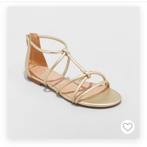 Samina Gladiator Gold Sandals